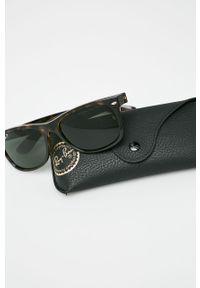Brązowe okulary przeciwsłoneczne Ray-Ban prostokątne