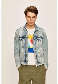 Niebieska kurtka Pepe Jeans bez kaptura, casualowa, na co dzień