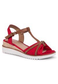 Czerwone sandały Tom Tailor