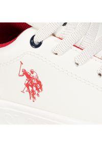 Białe półbuty U.S. Polo Assn z cholewką