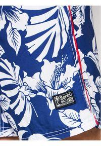 Superdry Szorty kąpielowe Campus Hawaiian M3010120A Niebieski Regular Fit. Kolor: niebieski