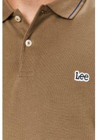 Zielona koszulka polo Lee polo, krótka
