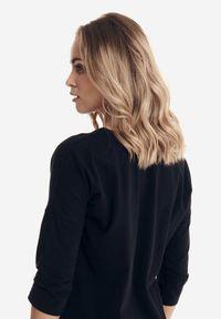 Born2be - Czarna Bluzka Badura Evanise. Kolor: czarny. Materiał: bawełna, jeans, elastan. Styl: sportowy