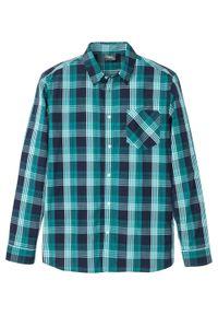 Niebieska koszula bonprix z długim rękawem, długa