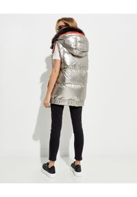 YVES SALOMON PARIS - Dwustronna kamizelka puchowa. Kolor: srebrny. Materiał: puch. Wzór: aplikacja
