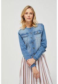 MOODO - Katana jeansowa. Typ kołnierza: bez kaptura. Materiał: jeans. Długość rękawa: długi rękaw. Długość: długie. Wzór: gładki