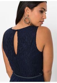 Niebieska sukienka bonprix wizytowa, maxi