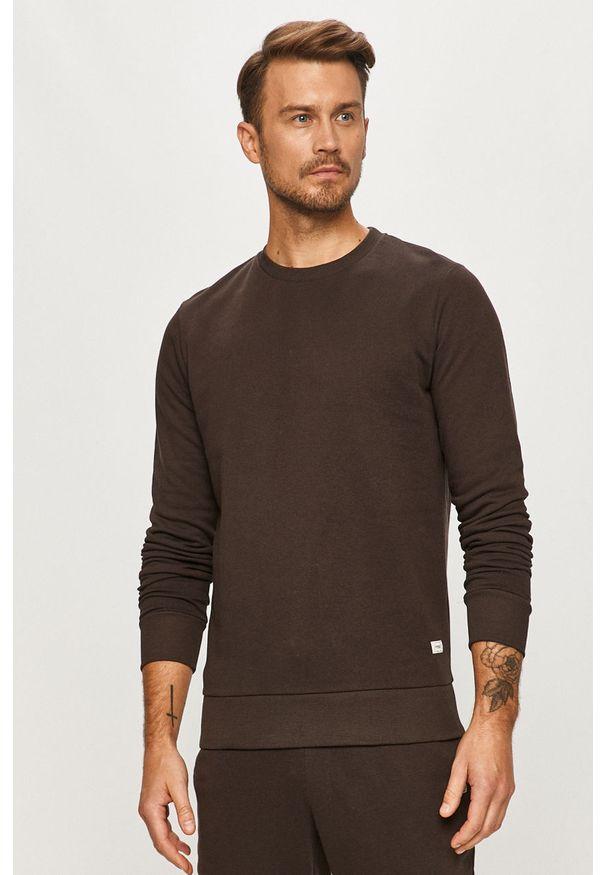 Szara bluza nierozpinana PRODUKT by Jack & Jones casualowa, bez kaptura, na co dzień