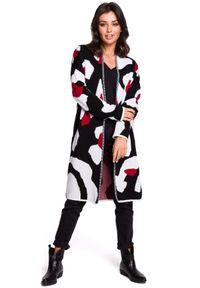 Sweter z długim rękawem, długi, w kolorowe wzory