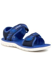 Clarks - Sandały CLARKS - Surfing Tide K 261493477 Navy Combi. Kolor: niebieski. Materiał: materiał. Sezon: lato. Styl: klasyczny