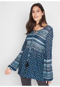 Niebieska tunika bonprix paisley #6
