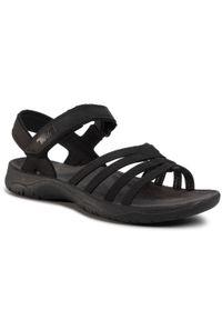 Czarne sandały Teva na co dzień, casualowe