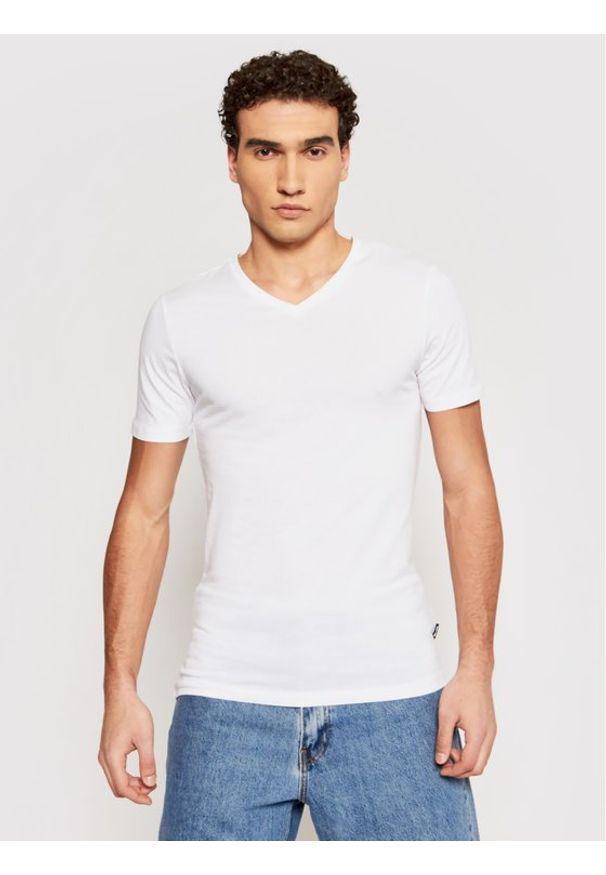Only & Sons - ONLY & SONS T-Shirt Basic 22020799 Biały Slim Fit. Kolor: biały