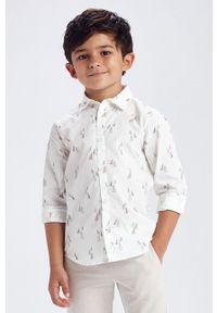 Biała koszula Mayoral z długim rękawem, długa