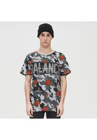 Szary t-shirt Cropp