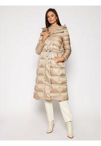 Beżowy płaszcz zimowy Geox