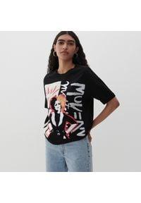 Reserved - Bawełniany t-shirt - Czarny. Kolor: czarny. Materiał: bawełna