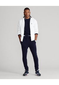 Ralph Lauren - RALPH LAUREN - Biała bluza z kapturem Spa Terry. Typ kołnierza: kaptur. Kolor: biały. Materiał: bawełna. Wzór: haft. Styl: klasyczny