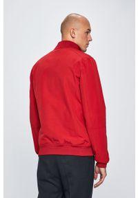 Czerwona kurtka medicine bez kaptura, casualowa, na co dzień