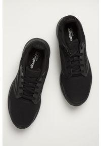 Czarne buty sportowe Adidas z okrągłym noskiem, na sznurówki, z cholewką