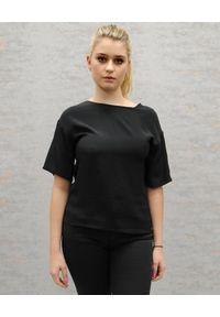 CRISTINAEFFE - Jedwabna bluzka z wiązaniem na plecach. Kolor: czarny. Materiał: jedwab. Wzór: grochy. Styl: klasyczny