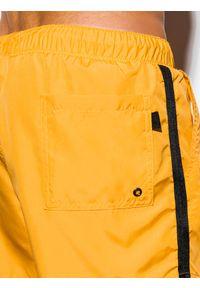 Żółte szorty Ombre Clothing z aplikacjami #4