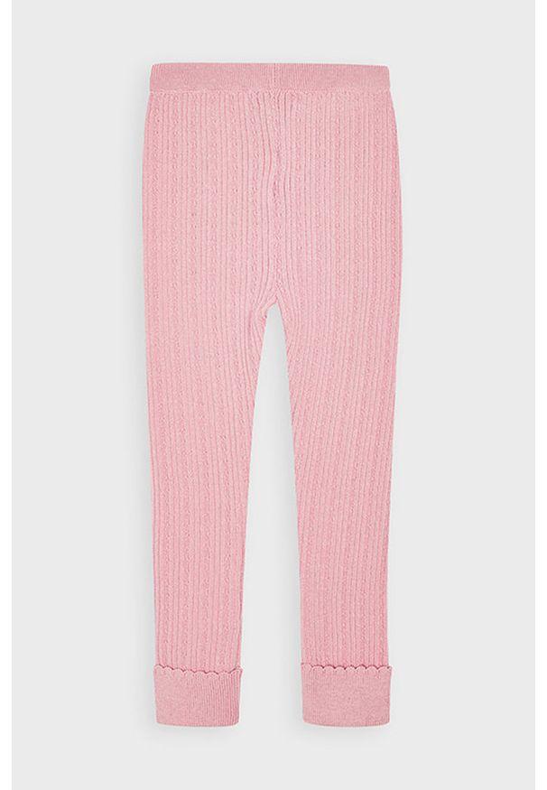 Różowe legginsy Mayoral z podwyższonym stanem