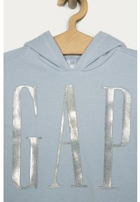 Niebieska bluza GAP z aplikacjami, z kapturem