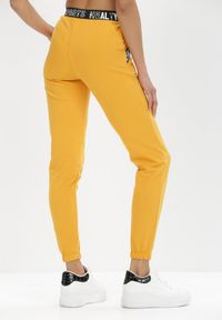 Born2be - Żółte Spodnie Dresowe Adrasaia. Kolor: żółty. Materiał: dresówka