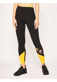 Czarne legginsy sportowe DKNY