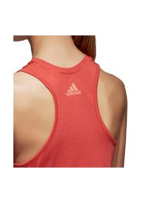 Adidas - Koszulka adidas Top Climalite Logo W CV5107. Materiał: skóra, poliester, materiał. Technologia: ClimaLite (Adidas). Sport: fitness