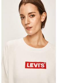 Levi's® - Levi's - Bluza. Okazja: na spotkanie biznesowe. Kolor: biały. Materiał: dzianina. Długość rękawa: raglanowy rękaw. Styl: biznesowy