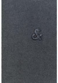 Niebieska bluza nierozpinana Jack & Jones z kapturem, gładkie