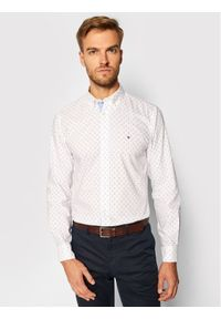 Biała koszula casual TOMMY HILFIGER z nadrukiem