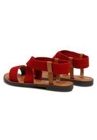 Refresh - Sandały REFRESH - 72646 Red. Okazja: na co dzień. Kolor: czerwony. Materiał: materiał. Sezon: lato. Styl: casual #3