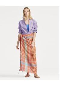 Ralph Lauren - RALPH LAUREN - Koszula Oxford. Typ kołnierza: polo. Kolor: wielokolorowy, fioletowy, różowy. Materiał: materiał, bawełna. Długość rękawa: długi rękaw. Długość: długie. Wzór: haft #3
