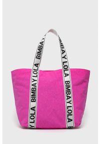 Bimba y Lola - BIMBA Y LOLA - Torebka. Kolor: różowy. Rodzaj torebki: na ramię
