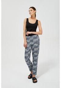 MOODO - Spodnie z nadrukiem. Materiał: wiskoza, guma. Długość: długie. Wzór: nadruk