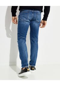 Balmain - BALMAIN - Jeansy z wąską nogawką. Okazja: na co dzień. Kolor: niebieski. Styl: klasyczny, casual