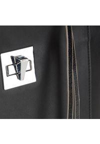 Czarna torebka Wittchen na wiosnę, elegancka, skórzana