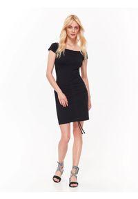 Czarna sukienka TOP SECRET na jesień, mini