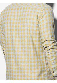 Żółta koszula Ombre Clothing z długim rękawem, długa #6
