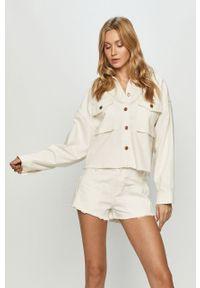 Biała kurtka AllSaints bez kaptura