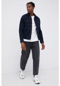 Tommy Jeans - T-shirt bawełniany. Okazja: na co dzień. Kolor: biały. Materiał: bawełna. Wzór: nadruk. Styl: casual