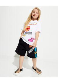DSQUARED2 KIDS - Czarne spodenki z nadrukami 4-12 lat. Kolor: czarny. Materiał: bawełna. Wzór: nadruk. Sezon: lato