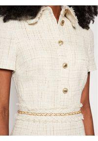 Beżowa sukienka dzianinowa Marciano Guess