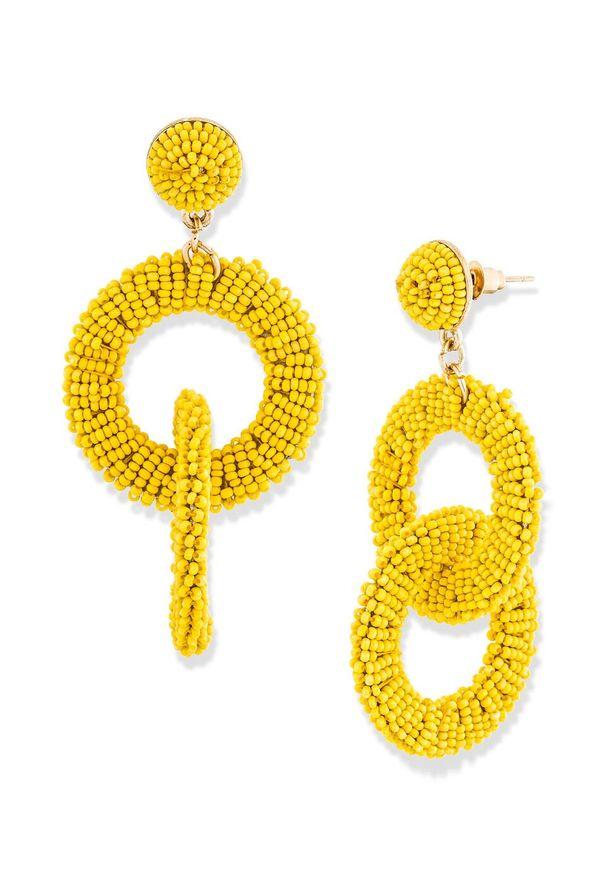 Kolczyki bonprix żółty ananasowy