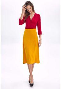 Żółta spódnica trapezowa Nife
