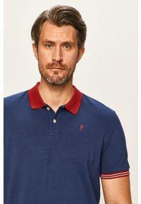 Niebieska koszulka polo Pepe Jeans polo, krótka, casualowa, na co dzień