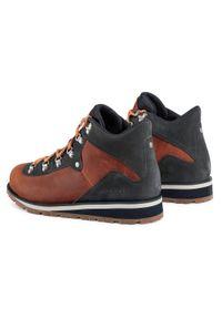 Brązowe buty trekkingowe Merrell trekkingowe